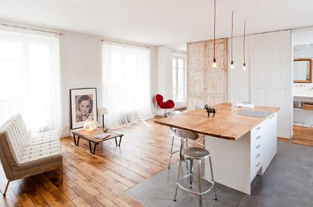 Un petit loft parisien très délicat, épuré et « zen » | Conseils Déco