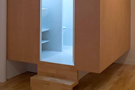 Un Cube / salle de bains dans un petit appartement | Conseils Déco