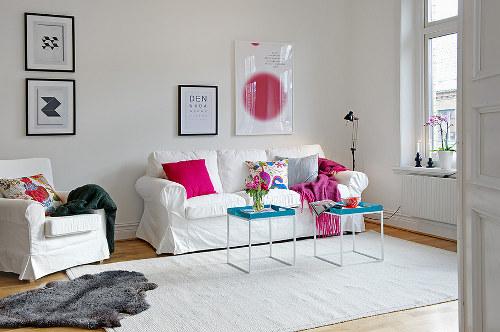 Une d co d appartement en cyan magenta jaune et noir conseils d co - Decoration d appartement ...