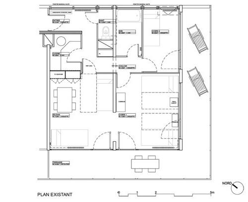 plan appartement traversant