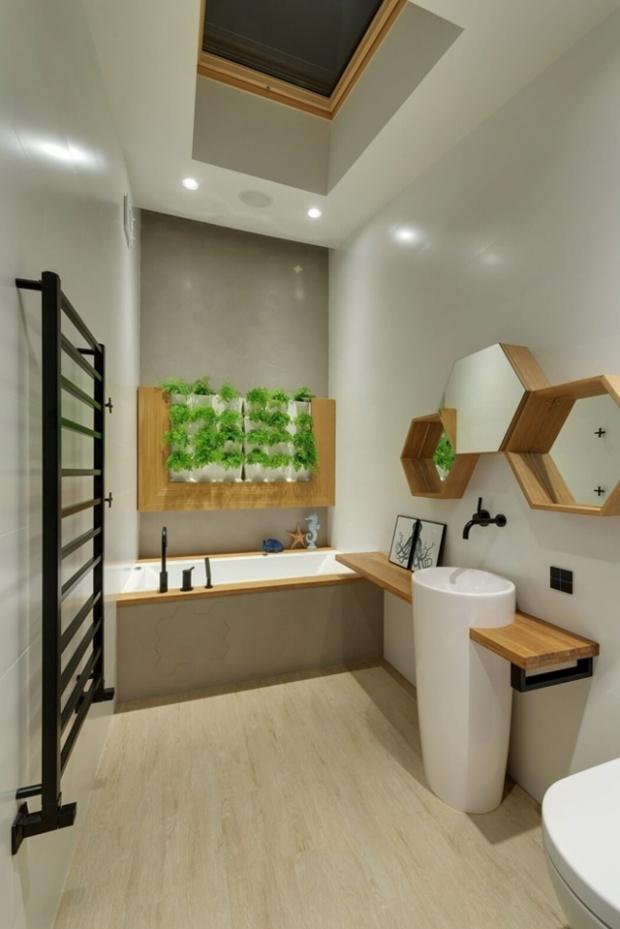 Enfin la salle de bain épurée et graphique