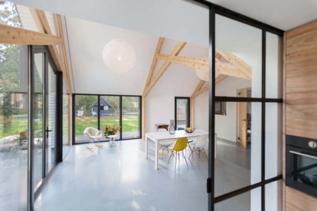 Une grange r nov e et transform e en extension conseils d co - Deco eigentijds design huis ...
