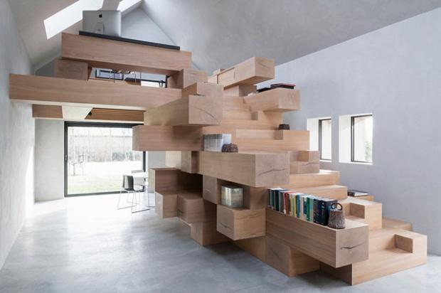 Conseilsdeco-Sculpture-mobilier-Belgique-studio-Farris-bureaux-bois-poutre-renovation-mezzanine-Koen-Van-Damme-01