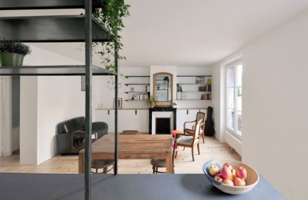 renovation appartement great renovation appartement paris travaux by a with renovation. Black Bedroom Furniture Sets. Home Design Ideas