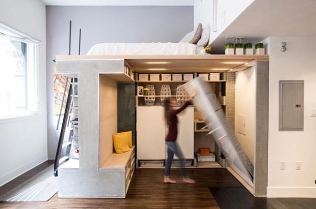 """Résultat de recherche d'images pour """"astuces pour gagner de l'espace dans un appartement"""""""