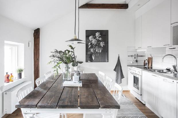 Du bois et une d coration tr s scandinave conseils d co - Decoration interieur scandinave ...