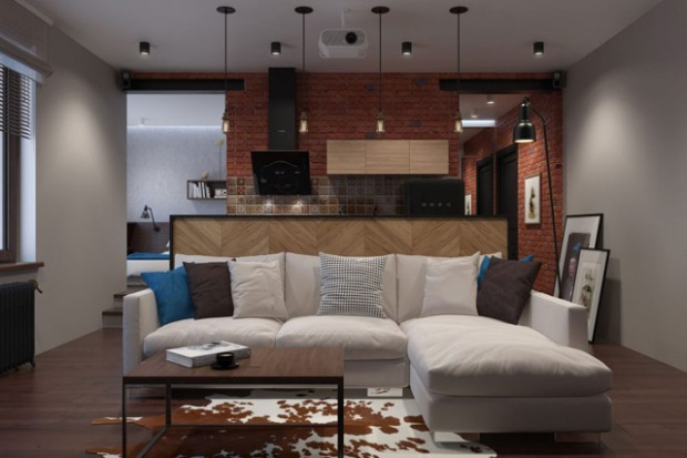 Appartement Industriel un appartement d'étudiant totalement rénové dans un style industriel