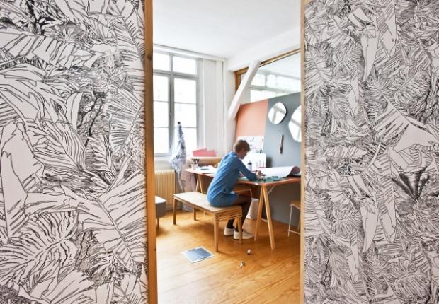 tendance le grand retour du papier peint conseils d co. Black Bedroom Furniture Sets. Home Design Ideas