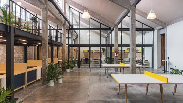 Une ancienne usine transformée en espace de co working conseils déco