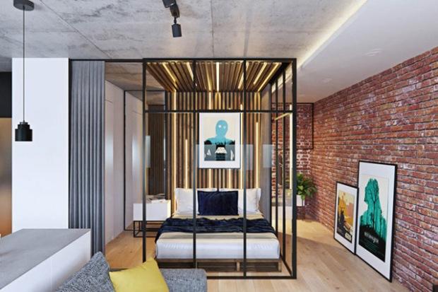 un appartement pens pour un c libataire moscou. Black Bedroom Furniture Sets. Home Design Ideas