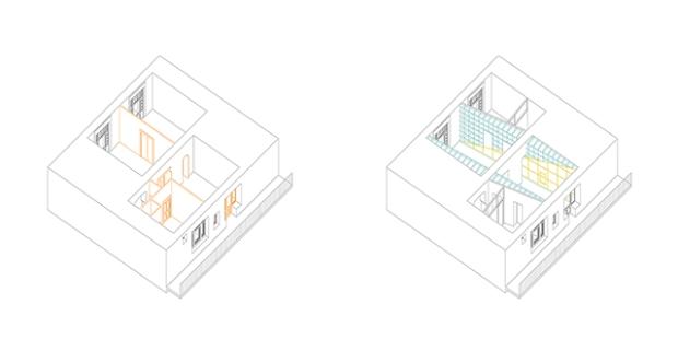Conseilsdeco-deco-decoration-conseil-architecture-interieur-color-Paradigma-Ariadne-renovation-Budapest-Diagonal-Apartment-etageres-couleur-02