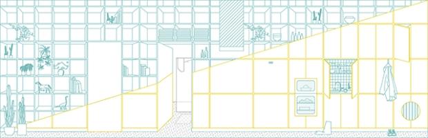 Conseilsdeco-deco-decoration-conseil-architecture-interieur-color-Paradigma-Ariadne-renovation-Budapest-Diagonal-Apartment-etageres-couleur-03