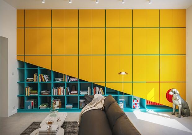 Conseilsdeco-deco-decoration-conseil-architecture-interieur-color-Paradigma-Ariadne-renovation-Budapest-Diagonal-Apartment-etageres-couleur-06