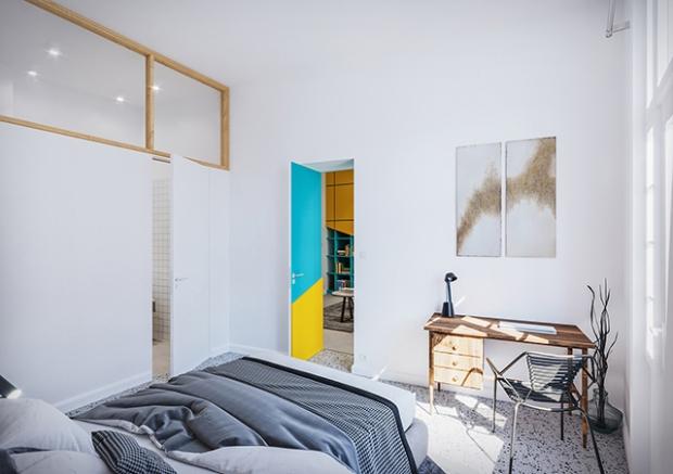 Conseilsdeco-deco-decoration-conseil-architecture-interieur-color-Paradigma-Ariadne-renovation-Budapest-Diagonal-Apartment-etageres-couleur-07